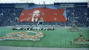Picture of the opening ceremony in Moscow.